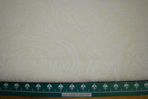 """108"""" Marbelicious White on Natural Quilt Backing"""