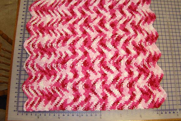 Baby Blanket Pink Cheveron