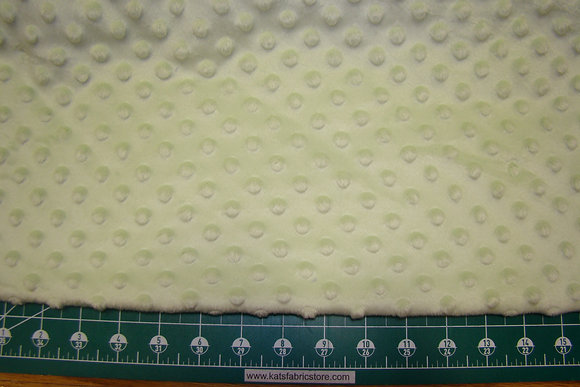 Snuggle Bumps Dots Minky Light Green