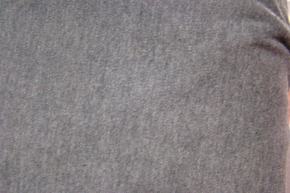 Knit Interlock Charcoal Poly Cotton