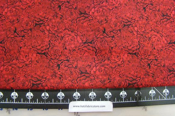 RJR Jinny Beyer Palette Floral Burgundy