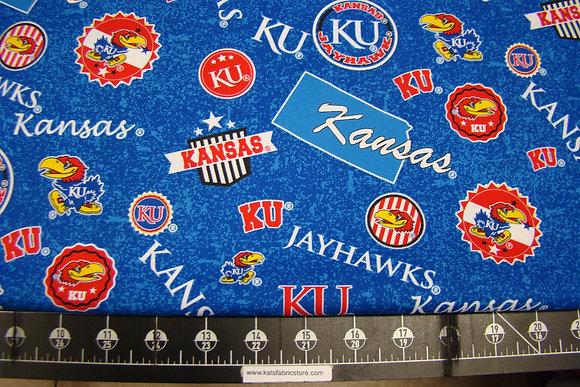 NCAA-Kansas Jayhawks Home State Cotton # KS-1208