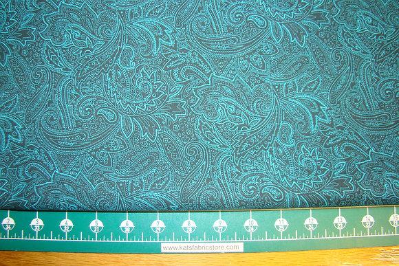 """108"""" Paisley Backing Turquoise"""