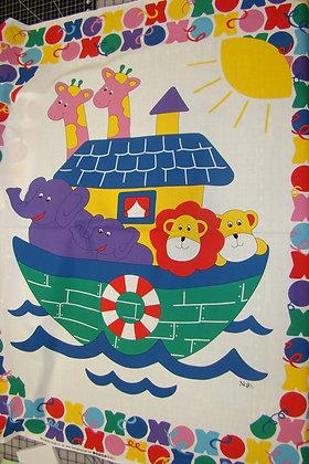 Baby Panel Noah's Ark White