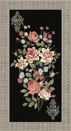 Paintbrush Studios Bella Panel Floral Black