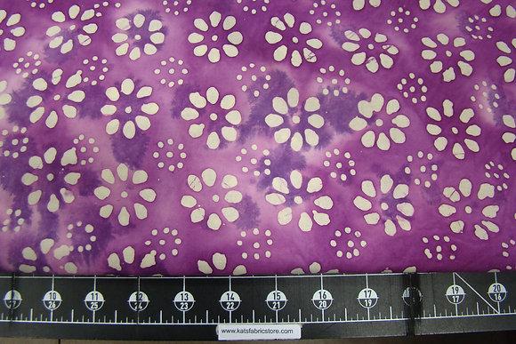 Quilter's Batik 354 Floral Purple