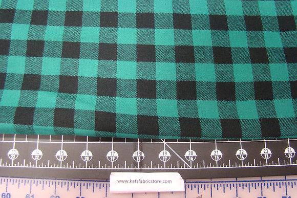 Flannel 3/4th Inch Check Green