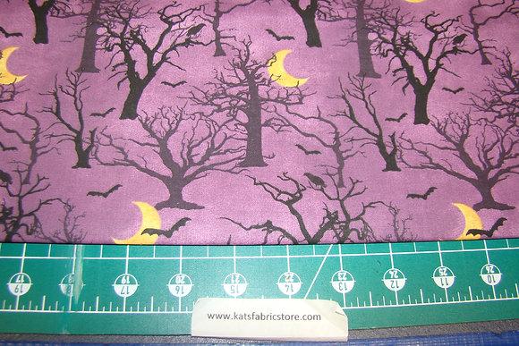 3W Spooky Night Forest Purple