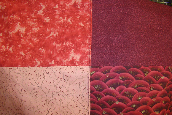 QT Fat Quarter Panel His Majesty The Tree Grass Red