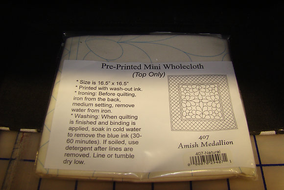 Natural Amish Medallion Pre-Printed Wholecloth