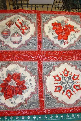 RK Holiday Flourish 11 Silver Red Design #17334