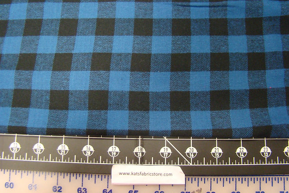 Flannel 3/4th Inch Check Royal