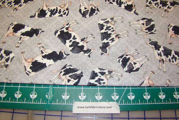 QT Greener Pastures Cows Gray