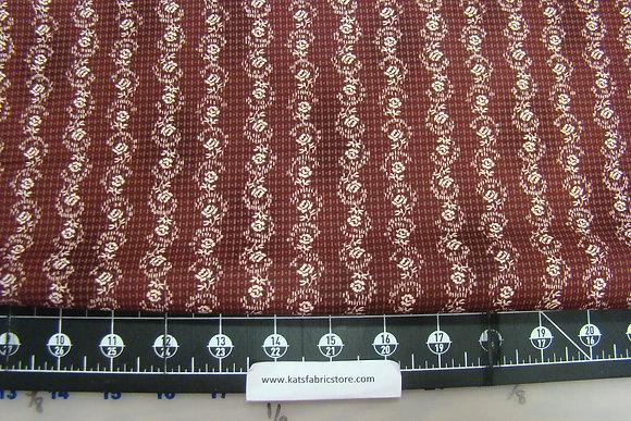 RJR Haversack Floral Stripe Burgundy