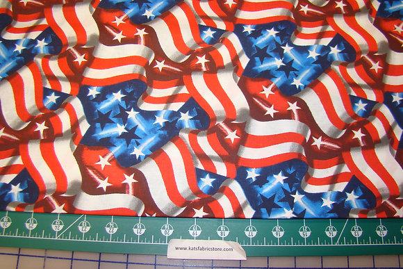 Patriotic Large Flags Allover RWB