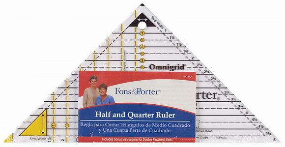 Half & Quarter Square Triangles Ruler # FPR7843