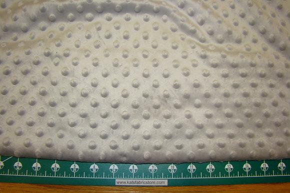 Snuggle Bumps Dots Minky Gray