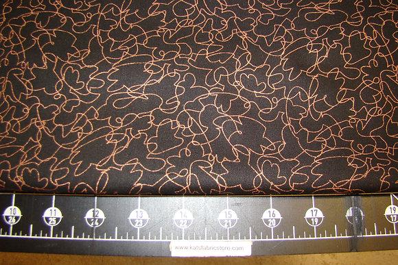 QT Metals Scribbles Black Copper