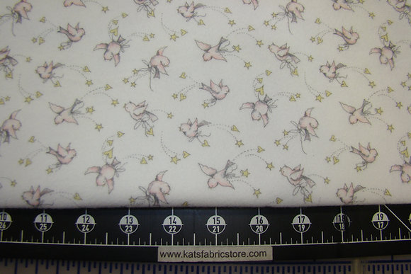 Flannel P&B Sunny Day Birds Pink