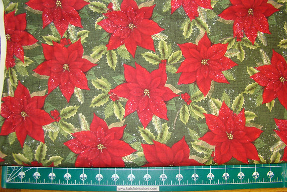 RK Traditional Poinsettia Green