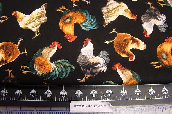 TT Tossed Chickens Black