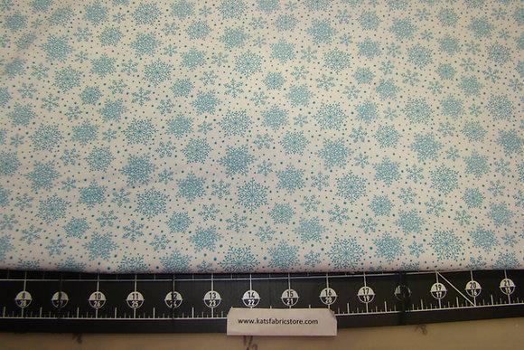 BX Snowflakes White Turquoise