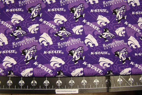 NCAA-Kansas State Wildcats Tone on Tone Cotton # KSU-1178