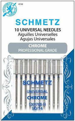 Chrome Universal Schmetz Needle 10 ct, Size 90/14 # 4134