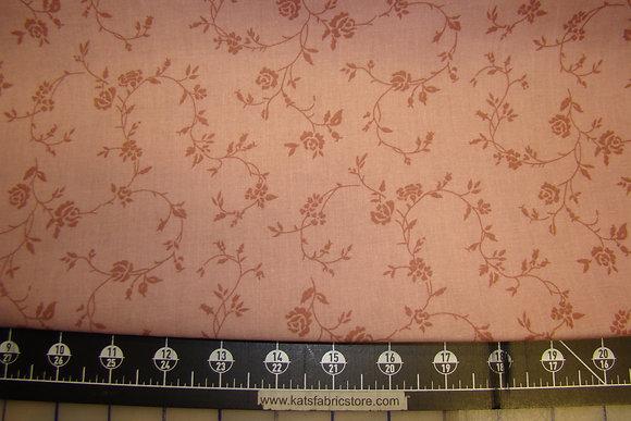 """108"""" Floral Vine Pink Backing"""