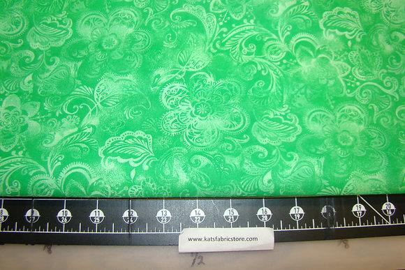 108in Batik Floral Green