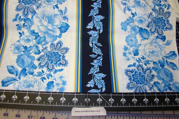 BX Maison Des Fleurs Belle Fleur Stripe Blue White