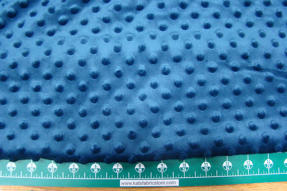 Snuggle Bumps Dots Minky Navy