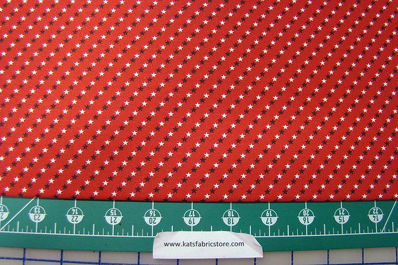 Patriotic Mini Stars on Red
