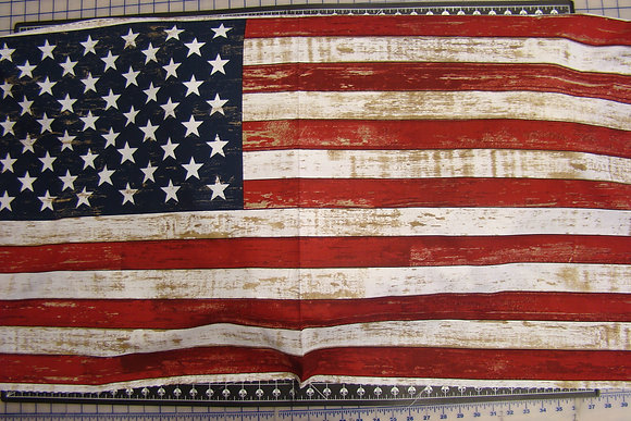 Timeless Treasures American Flag Panel