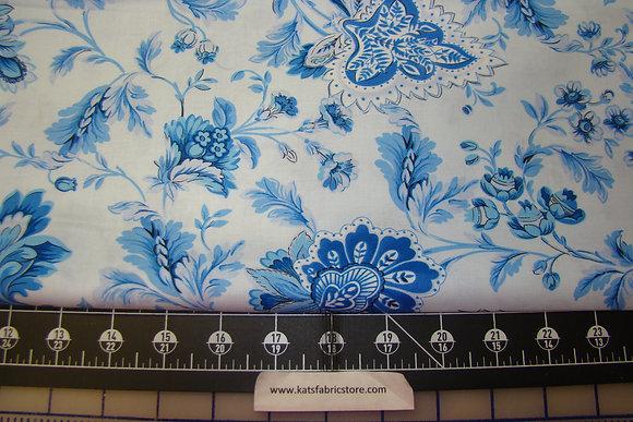 BX Maison Des Fleurs Jacobean Floral Powder Blue