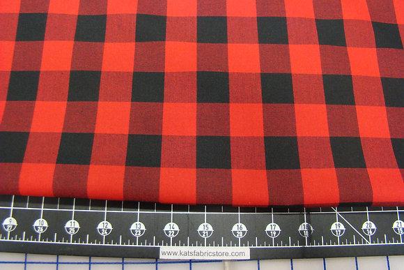 RK Buffalo Plaid Red Black 1 inch