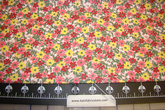 Quilter Calicos 314 Red Yellow Pink