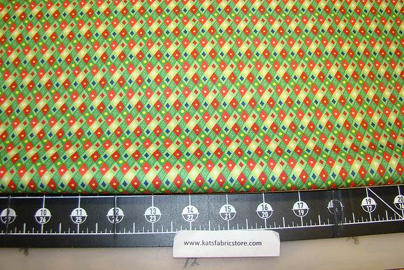 QT Happy Christmas Diamonds Green