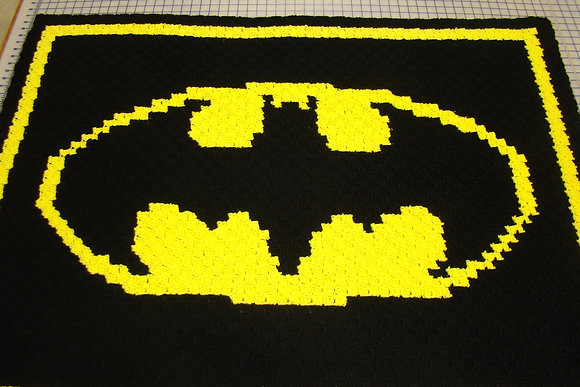 Crocheted Batman Throw C2C
