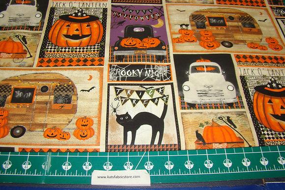 3W Spooky Night Patchwork Multi