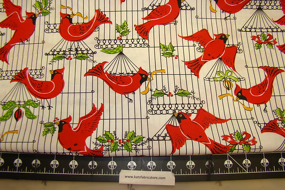 MM HLDY Holiday Cardinals White