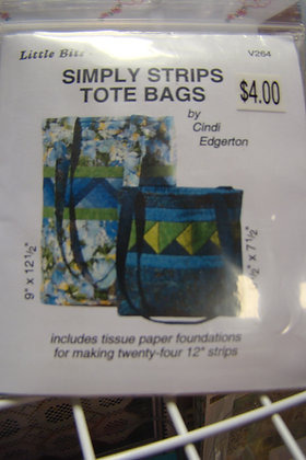 A Very Special Collection- Little Bits- Simply Strips Tote Bags Pattern