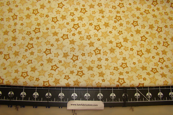 RR Sew Nice to Be Home Stars Gold Cream