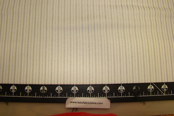 BX Stripes White Silver Metallic