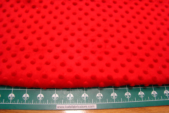 Snuggle Bumps Dots Minky Red