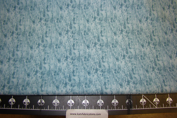 Fabric Arts Quilters Print Teal