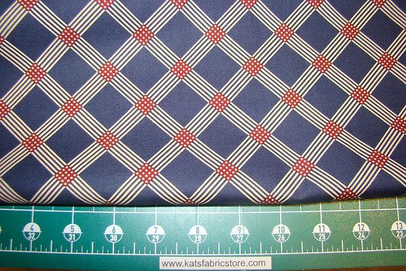 Andover Salute Patriotic Plaid Blue