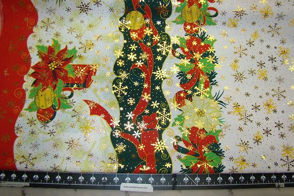 Poly Christmas Print Metallic CP2009
