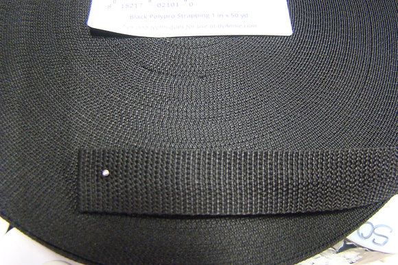 Black Polypro Strapping 1 inch