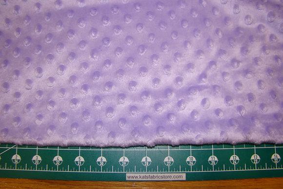 Snuggle Bumps Dots Minky Lavender